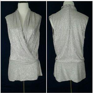 Silver Boston Proper blouse!